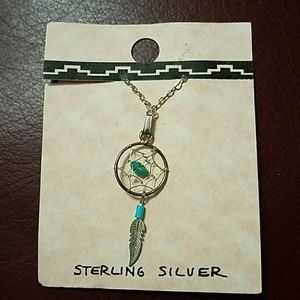 Dream Catcher Sterling Silver Necklace NEW